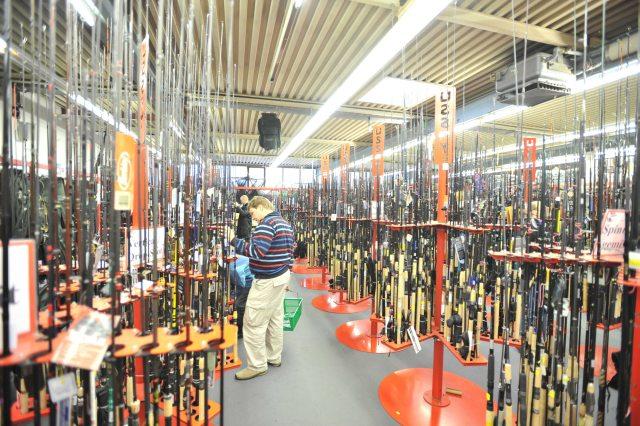 Über 2500 verschiedene Angelruten für Raubfischangler