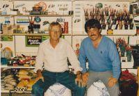 Otto Ussat hatte Besuch vom damaligen Weltmeister Ian Heaps