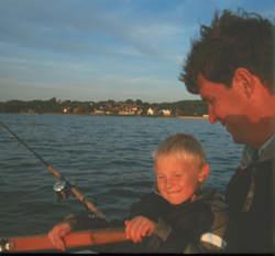 Uli Beyer und Dennis am Möhnesee
